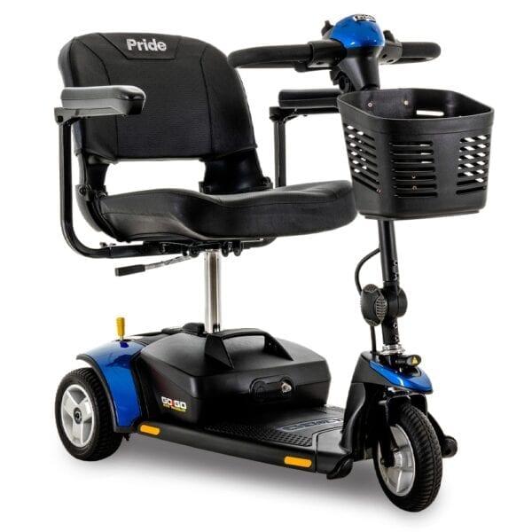 Pride Mobility Go Go Elite Traveller 3-Wheel Scooter in Blue