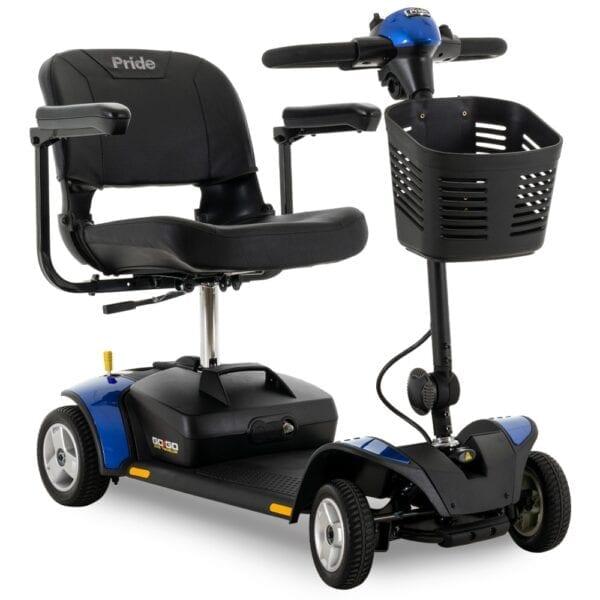 Pride Mobility Go Go Elite Traveller 4-Wheel Scooter in Blue