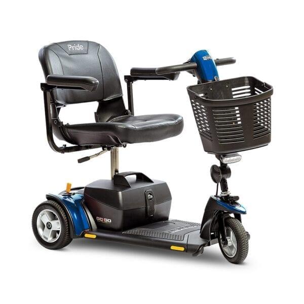 Pride Mobility Go Go Elite Traveller Plus 3-Wheel Scooter in Blue