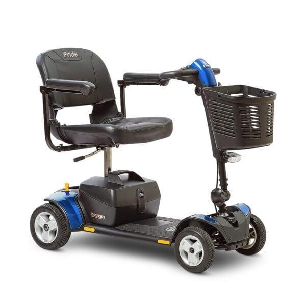Pride Mobility Go Go Elite Traveller Plus 4-Wheel Scooter in Blue