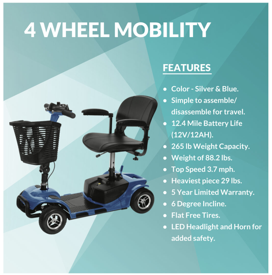 Information Regarding the 4-Wheel Mobility Scooter